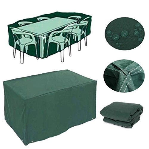 Feikai Outdoor All Weather Furniture Cover, Waterproof Rain Cover Garden Cases Shelter Square Patio Rattan Wicker Tables Chairs Dining Cube Sofa Sets Protection (Green 152x104x71cm) price