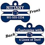 Penn State Double Sided Pet Id Dog Tag Personalized With 4 Lines of Text