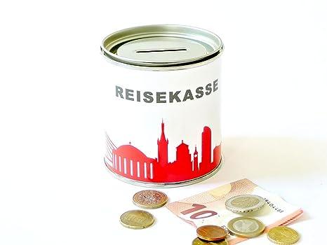 Amazonde 44spaces Spardose Düsseldorf Reisekasse Rot