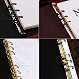 Olpchee 2Pcs Metal A6 Notebook 6-Ring Binder