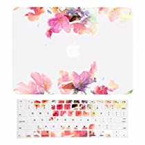 TOP CASE - 2 in 1 Bundle Deal Air 13-Inch Vibrant Summer Graphics Rubberized Hard Case + Keyboard Cover for MacBook Air 13