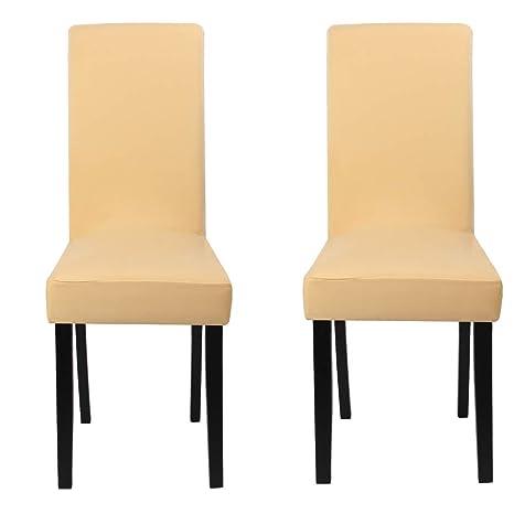 Funda para sillas paquete de 2, fundas elásticas para comedor, cubiertas para sillas,bielástico Extraíble funda, muy cómodo, fácil de limpiar, ...