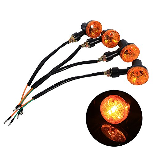 4x Metal Plating Motorbike Turn Signal Indicator Light For Harley Chopper Cafe Good Quality With Metal Body Price Remains Stable Electric Vehicle Parts Atv,rv,boat & Other Vehicle