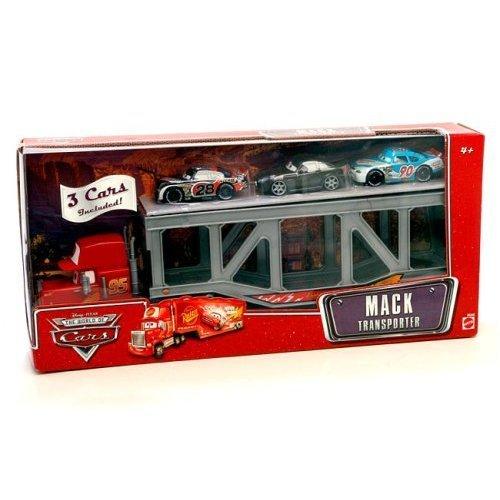 Disney / Pixar CARS Movie 1:55 Die Cast Figure 3-Pack Mack Transporter with Bumper Save, Bob Cutlass and (Mack Transporter)
