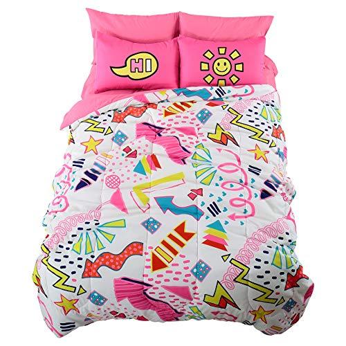 EVOLIVE Digital Printed Soft Microfiber Kids, Teen, Children Bed in a Bag Comforter Set Including Printed Sheet Set (Funky Arrow, Full) ()