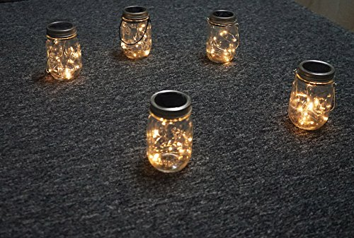 5 Pack Solar Mason Jar String Lights Mason Jar Solar 10
