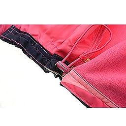 M2C Outdoor Kids Thermal Fleece Sweater Windproof Coat, Red, 7T