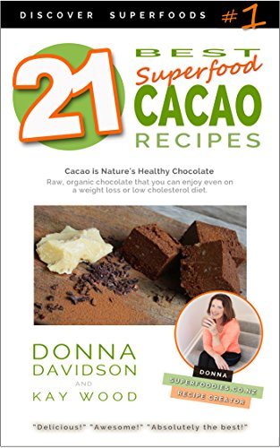 21 Best Superfood Cacao Recipes - Discover Superfoods #1: Cacao is Nature's healthy and delicious superfood chocolate you can enjoy even on a weight loss or low cholesterol diet!
