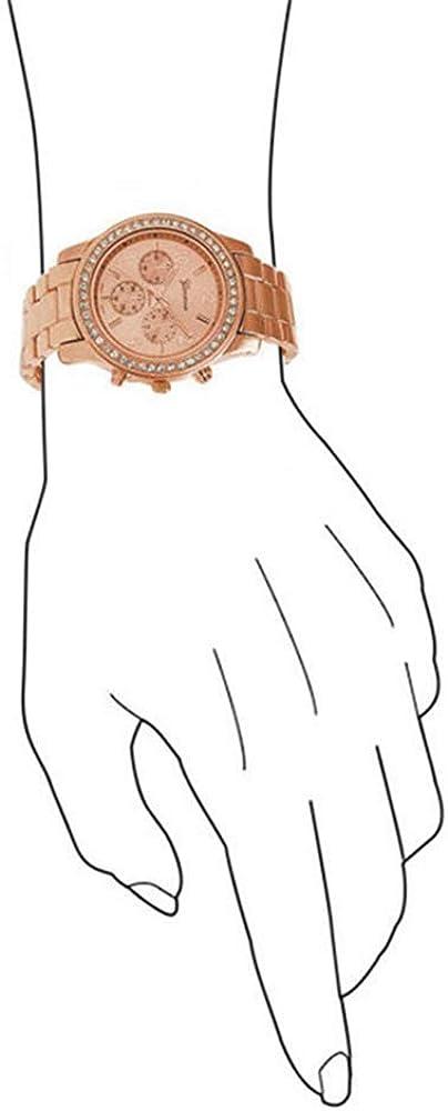 Montre Femme pour Femme Montre pour Femme Montre pour Femme Montre de Imitation chronographe Quartz Classique Montre Ronde pour Femme Montre pour Femme en Acier Inoxydable Rose