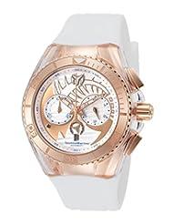 Technomarine Tm-115066 Women's Cruise Dream Chrono White Silicone And Dial Rose-Tone Case Watch