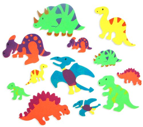 Foam Adhesive Dinosaur Shapes (500 pc) by Fun Express -