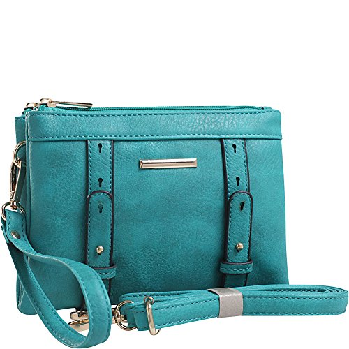 Double Compartment Farrow K Turquoise MKF Mia Collection Crossbody Cara by n6qw6aACY