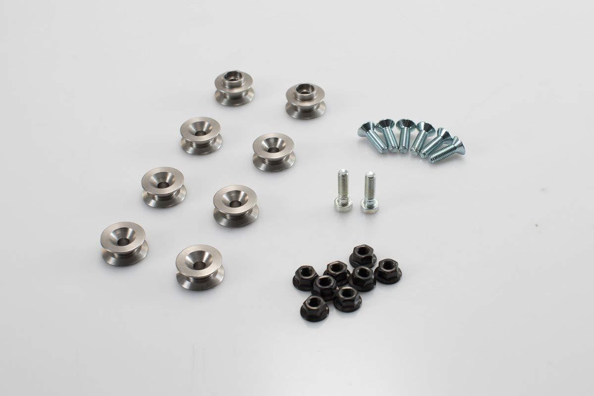 SW Motech KFT. 00.152.35200per side rack Adaptor Kit for Aero ABS Case, Black, 1 SW-MOTECH KFT.00.152.35200