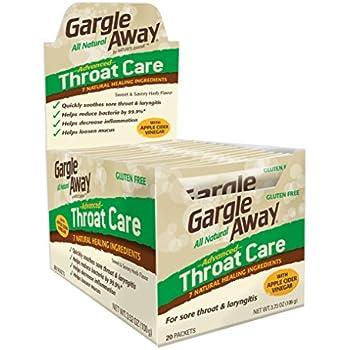 Amazon.com: Gargle Away Throat Care, 20-PK: Health