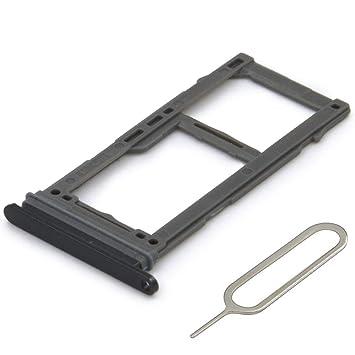 MMOBIEL Bandeja con Doble Tarjeta SIM Compatible con Samsung Galaxy S8 G950 / S8 Plus G955 (Negro) Incl. Sim Pin
