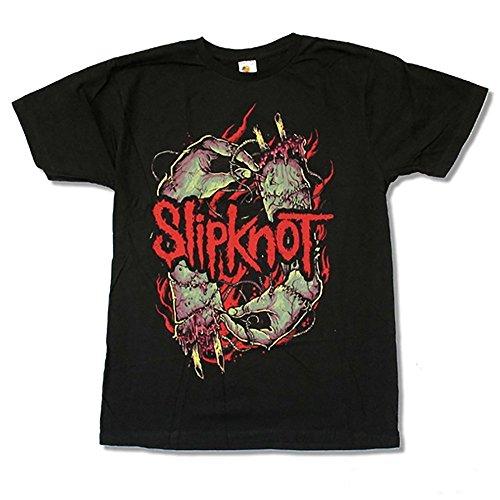 Slipknot Stitched Hands Men's Black T-Shirt (L) (Slipknot Chris)