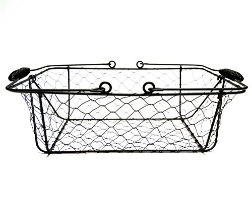 Mkono Vintage Bread Basket Black Wire Food Serving Basket with Removable Liner for Picnic Coffee Kitchen by Mkono (Image #4)