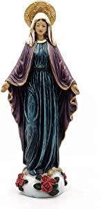 "Comfy Hour 9"" Religious Virgin Generous Mary Statue, The Blessed Mother of The Immaculate Comception Home Madonna Figurine"