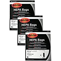 18 Riccar HEPA Type F Vacuum Bags, Simplicity, Freedom, Supralite, Canister Vacuum Cleaners, RSLH-6, SF-6, RSL1, RSL1A, RSL1AC, RSL3C, RSL2, RSL3, RSL4, RSL5, RSL5C, SLPLUS, RFH-6, F3500