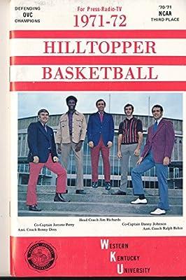 1971 - 1972 Western Kentucky Basketball press Media guide