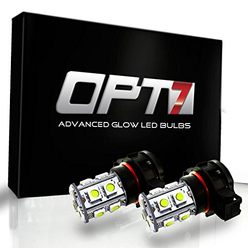 OPT7 Show Glow G1 5202 2504 LED Fog Light Bulbs - 10000K Deep Blue @ 225 LMS per Bulb - All Bulb Sizes and Colors - 1 Year Warranty (Pack of 2)
