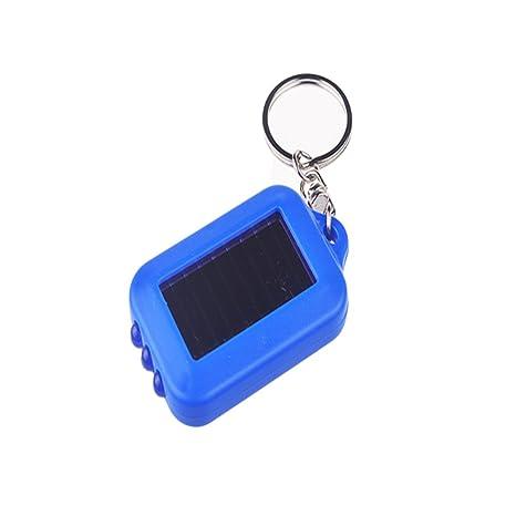 Amazon.com: topbeu 1pc mini LED Solar Llavero linterna: Home ...