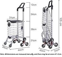Jmung Andador De Aluminio Carro De Compras para Ancianos ...