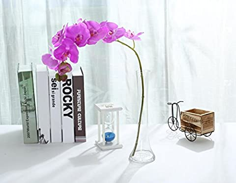Miracliy 1 Piece Artificial Butterfly Orchid Flower Artificial Flower Plant for Home Decoration (Purple)