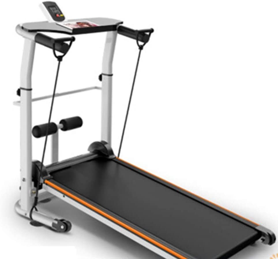 CHENSHJI Jogging Walking Machine Mecánica Cinta de Correr Plegable for Ahorrar Espacio de Fitness máquina Corriente máquina Que Ejecuta (Color : Orange, Size : 120x60x20cm)