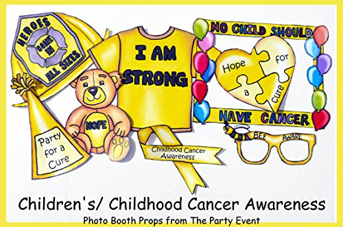 Childhood Cancer Awareness Photo Booth Props by The Party Event