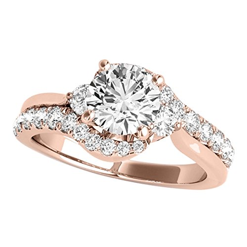 MauliJewels 1.25 Ct. Halo Antique Design Engagement Bridal Set Diamond Ring Crafted In 14k Solid Rose - Ring Princess Diamond Engagement Antique