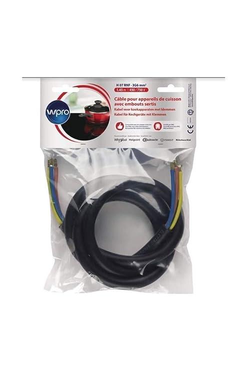 WPRO CAB360/1 Câble Electrique 1.45m (> 5750 watts): Amazon ...