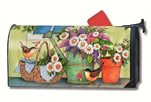 (MailWraps Front Porch Flowers Mailbox Cover)