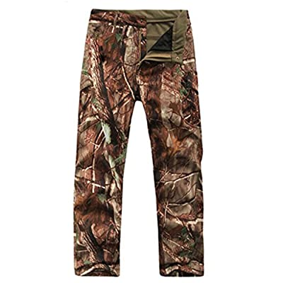 Eglemall Men's Military Tactical Hunting Pants Fleece Softshell Trousers