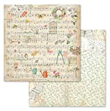 Stamperia Intl Scrapbooking Paper, Multi-Colored 10 Pack
