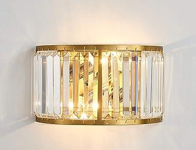 Applique da parete in cristallo di stile moderno con luce curva