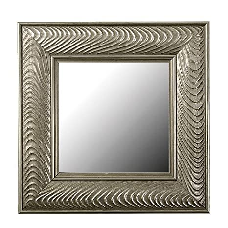 amazoncom mirror framing kit in 16 x 58 venetian silver wave mirror not included home kitchen