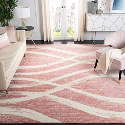 Safavieh Adirondack Collection ADR125Z Rose and Cream Modern Area Rug 8' x 10'