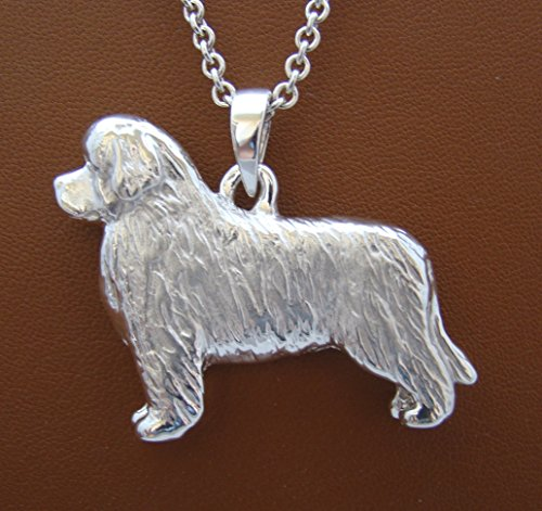 (Large Sterling Silver Newfoundland Standing Study Pendant)