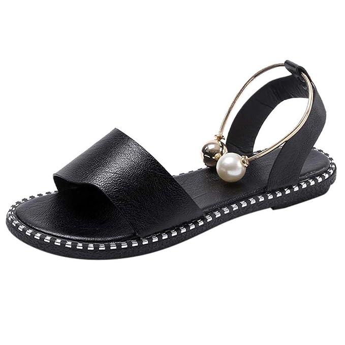 Sandalen Damen Sommer FGHYHDamenmode solide runde kappe