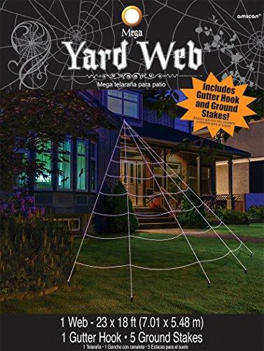 [Mega Yard Spider Web Halloween Decor 23' X 18'] (Icarly Halloween)