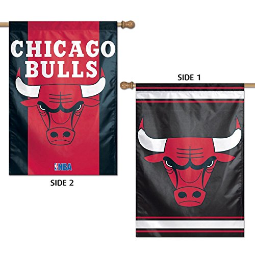 Wincraft NBA Chicago Bulls 2 Sided Vertical Flag, 28 x 40