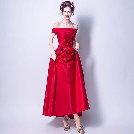 wholesale dealer 62e93 5ff9c YT-ER Abito da Sera Sexy Senza Spalline Elegante Abito da ...