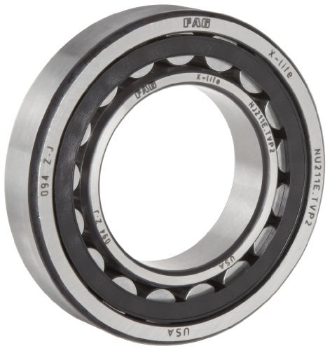 FAG 22207E1-C3 Spherical Roller Bearing, Straight Bore, Steel Cage, C3 Clearance, Metric, 35mm ID, 72mm OD, 23mm Width