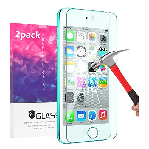iPod Touch Screen Protector, VPR 0.2mm Ultra Thin 9H Hardness 2.5D High Definition Premium Tempered Glass with [Highly Responsive] [No-Bubble] for for Apple iPod Touch 6th, 5th Generation (2pack)