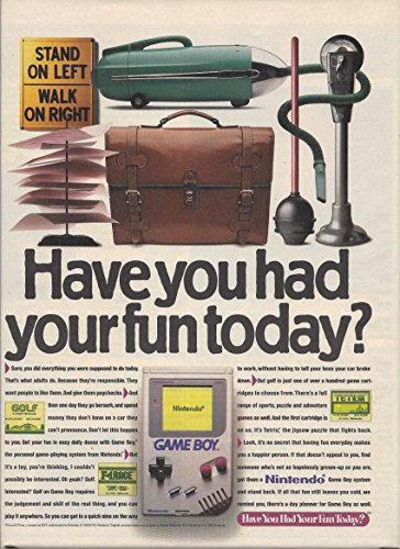 MAGAZINE AD For Nintendo Game Boy 1989 Have You Had Your Fun Today
