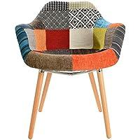 Mochi Furniture DC-221D-P, Regular, Multi-Colored/Beech