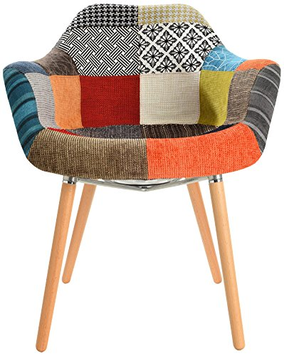 Mochi Furniture Accent Chairs, Regular, Multi-Colored/Beech