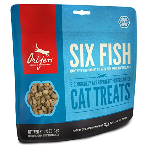 Orijen Six-Fish Freeze-dried Cat Treats 1.25 Oz Cat Treats Fish
