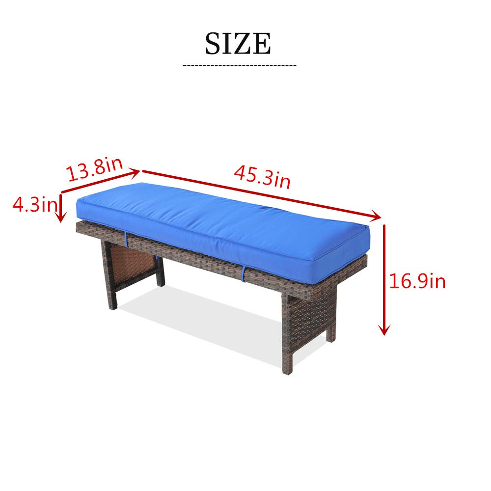 Amazon.com: Exterior de ratán sofá patio muebles PE ratán w ...